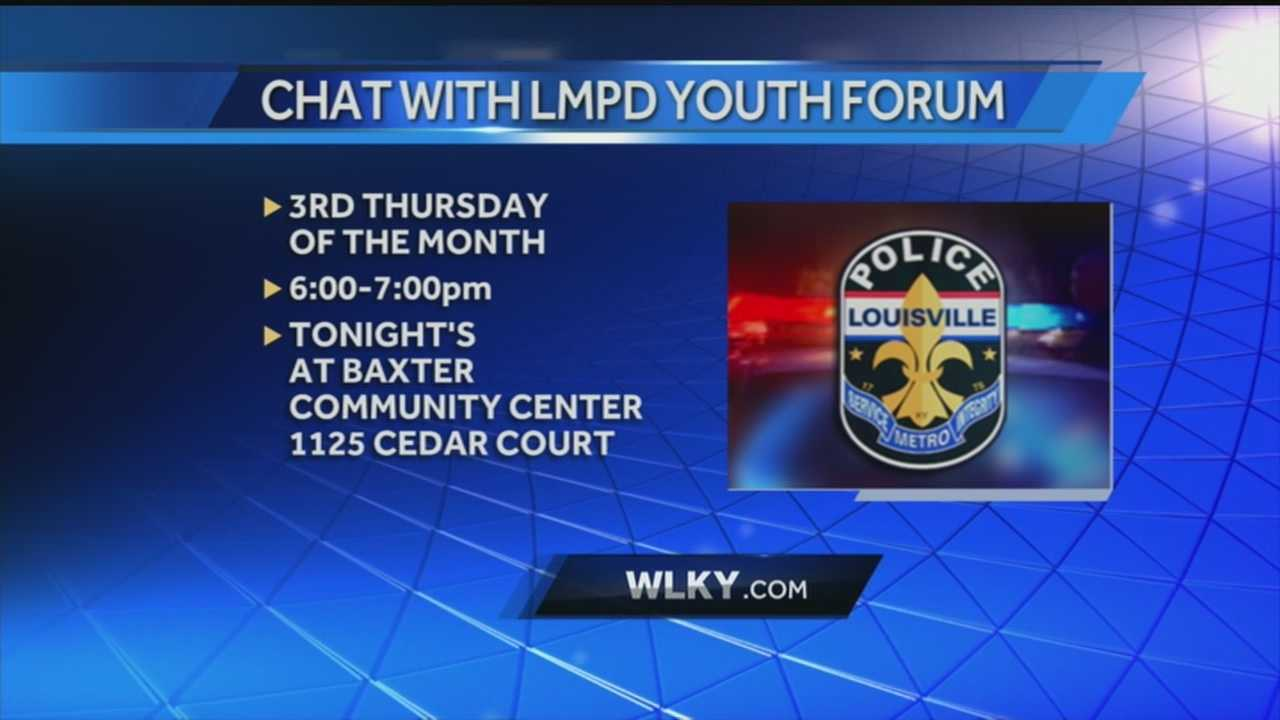 Inaugural Chat with LMPD held at Baxter Community Center