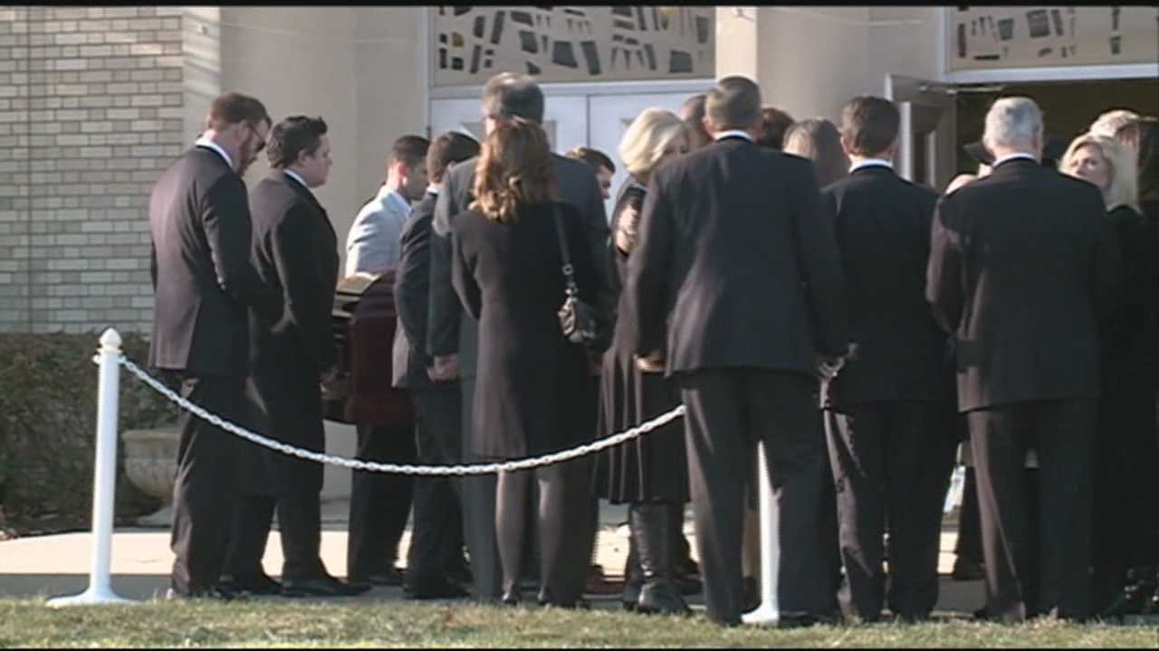 Family, friends and city leaders gather to pay their final respects to Metro Council President Jim King.