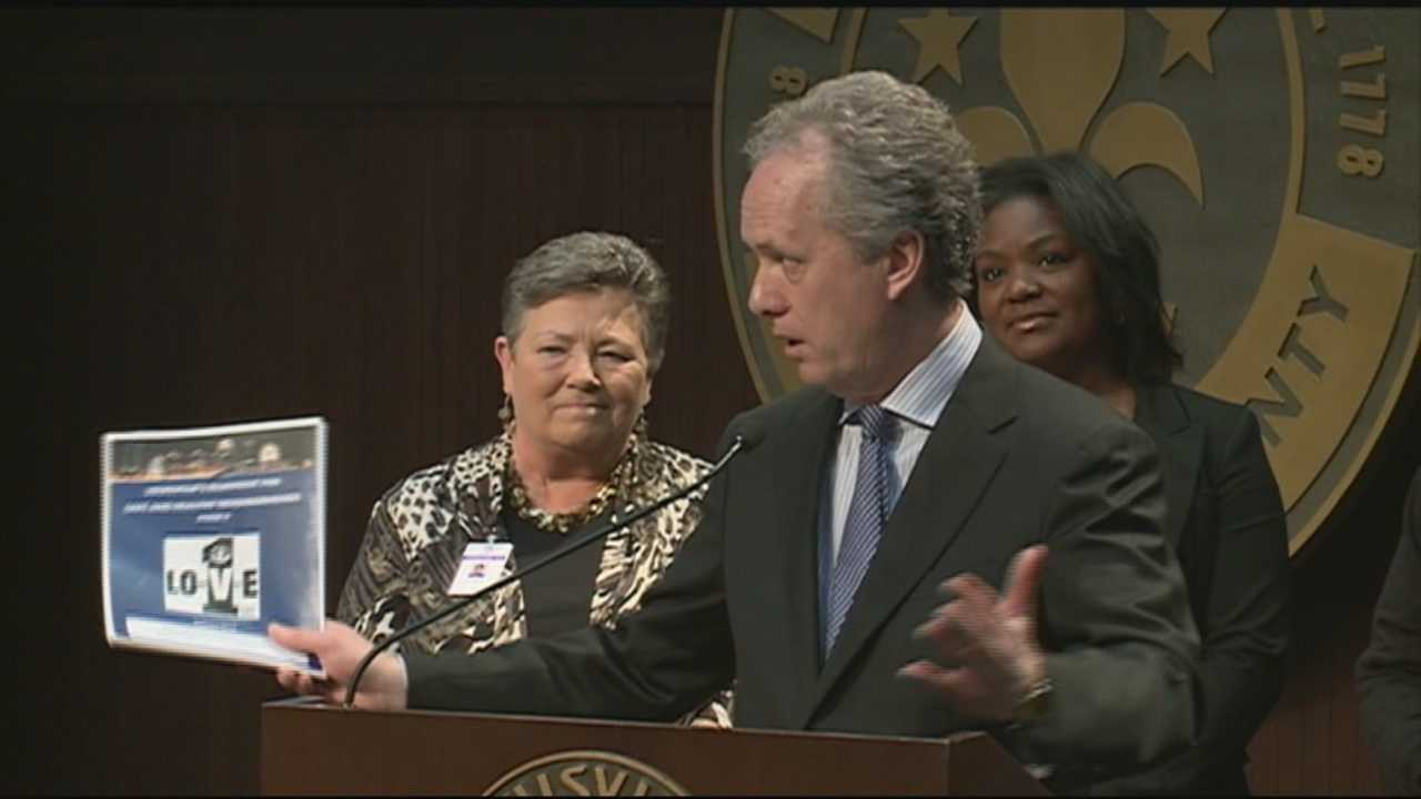 Mayor Greg Fischer is launching a campaign to reduce violent crimes, suicides and drug overdoses in the city.