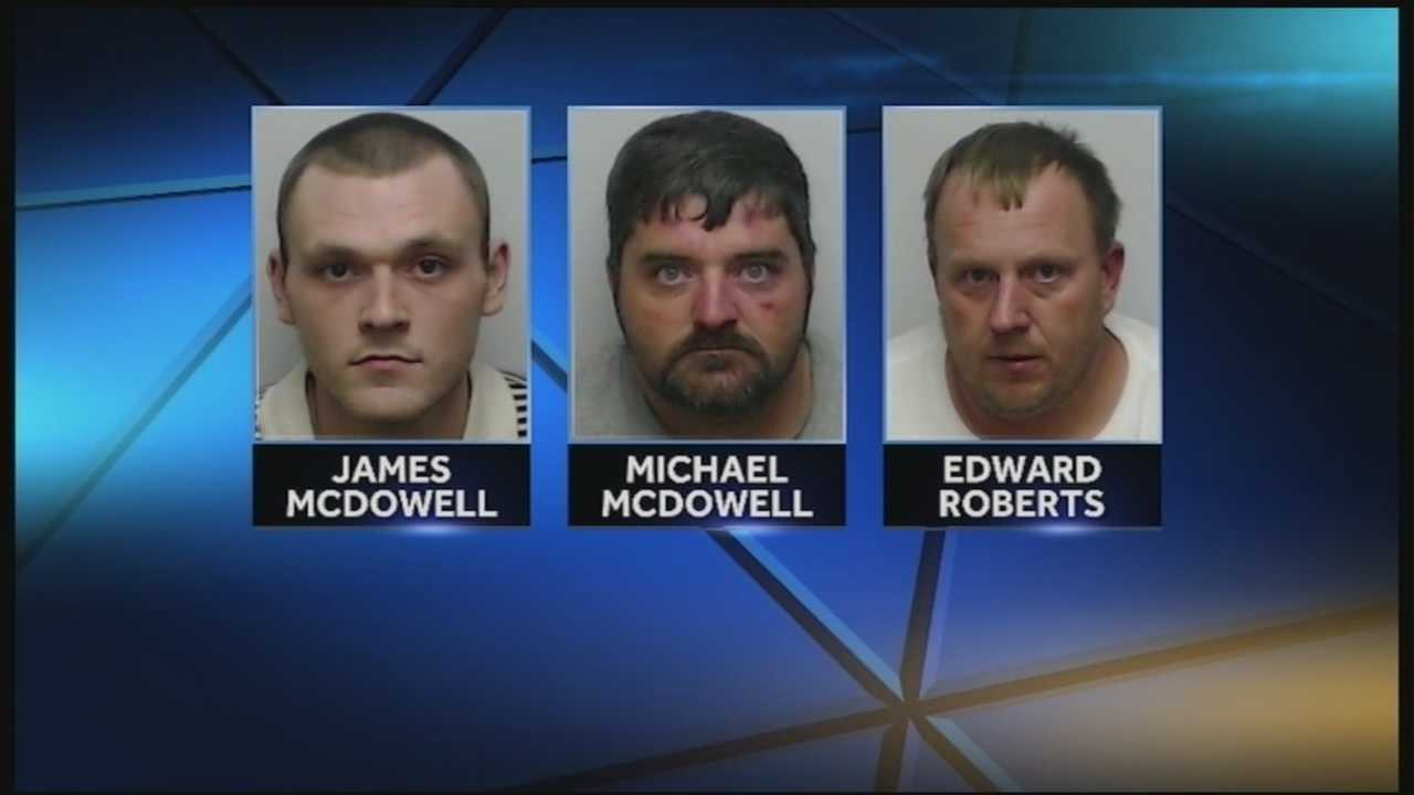 Three men are accused of stealing tens of thousands of dollars from Lowe's home improvement stores from Lexington to Clarksville.