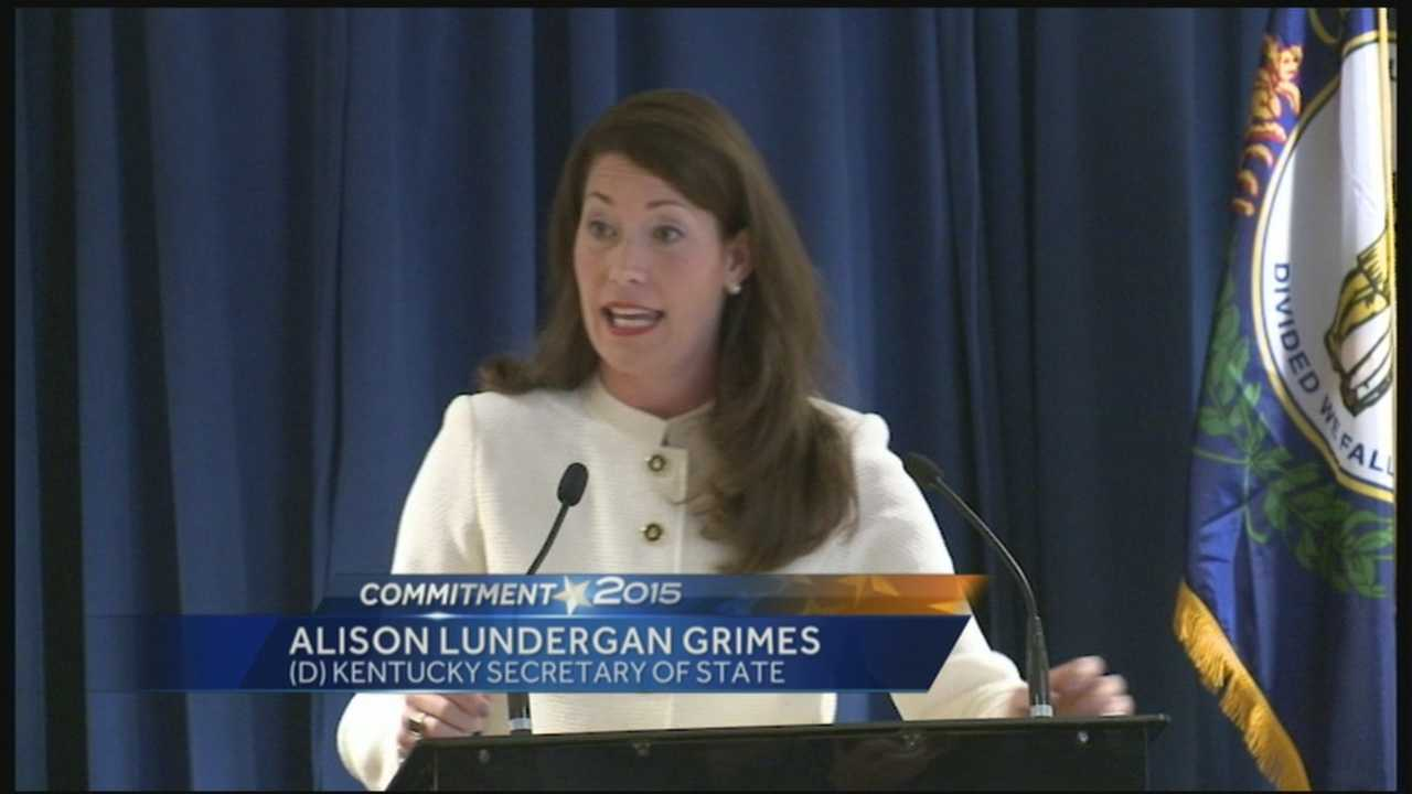 Secretary of State Alison Lundergan Grimes will run for re-election in 2015.