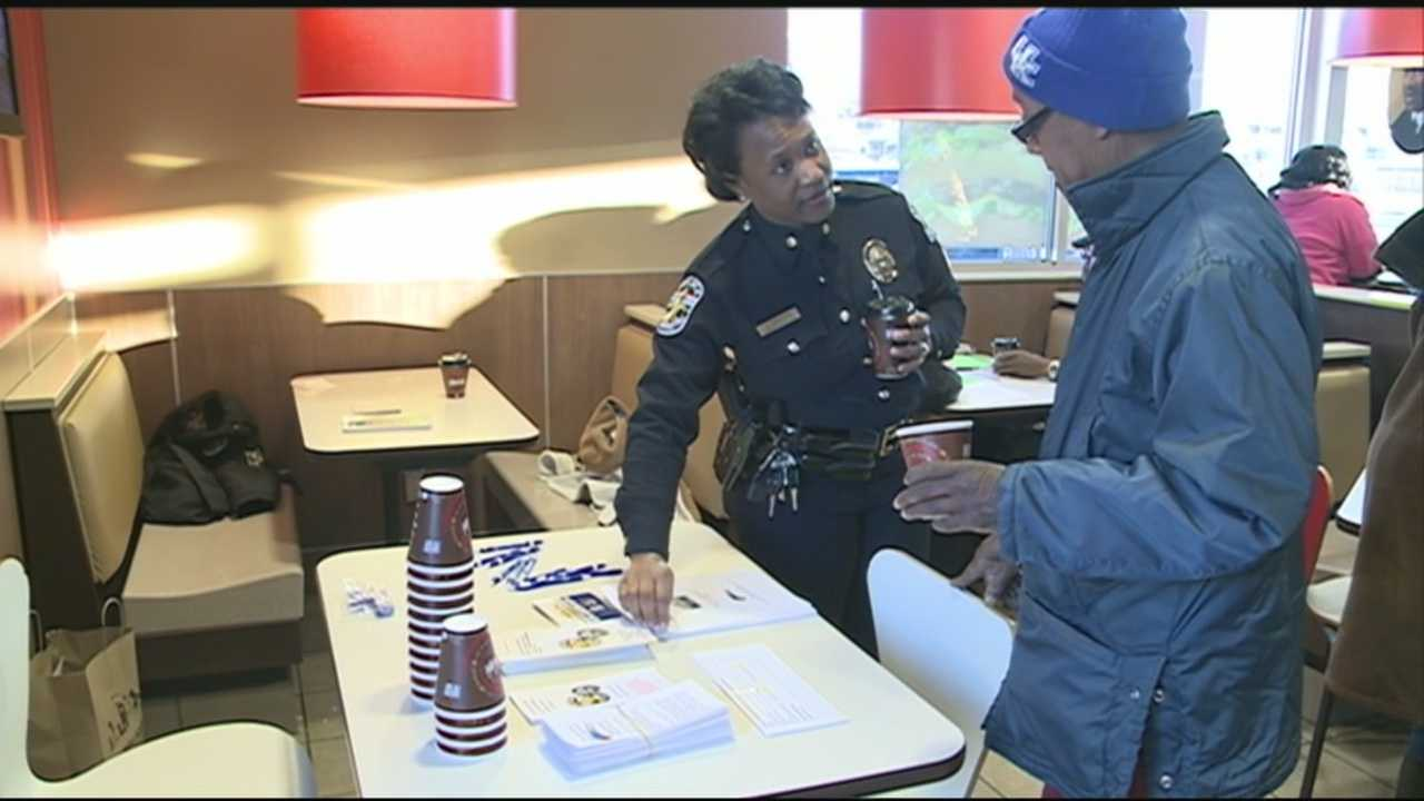 """Coffee with a Cop"" event intended for community outreach"