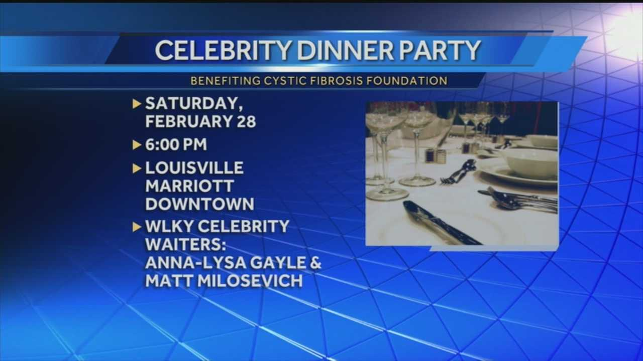 Celebrity Dinner Party to be held locally benefiting Cystic Fibrosis