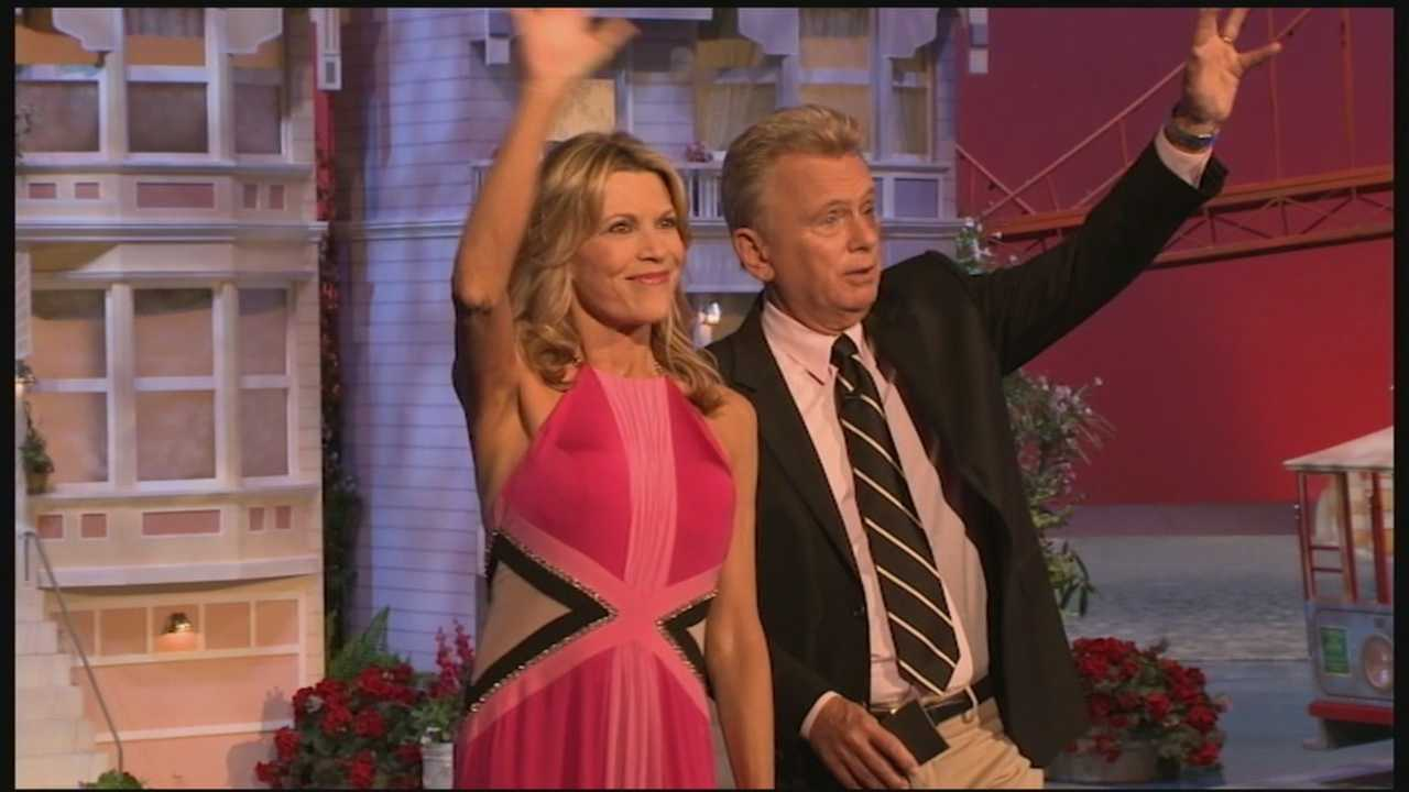 "You welcome them into your homes each weeknight on ""Wheel of Fortune."" Pat Sajak and Vanna White have been hosting the show for more than three decades."