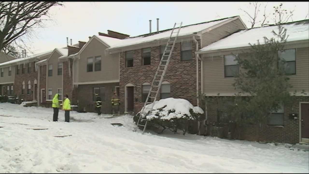 Firefighters in Fern Creek had to battle the cold along with flames Wednesday afternoon.