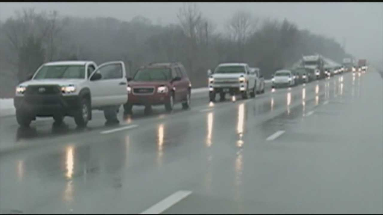 Traffic is moving again after flooding caused a standstill on I-64 East on Saturday.