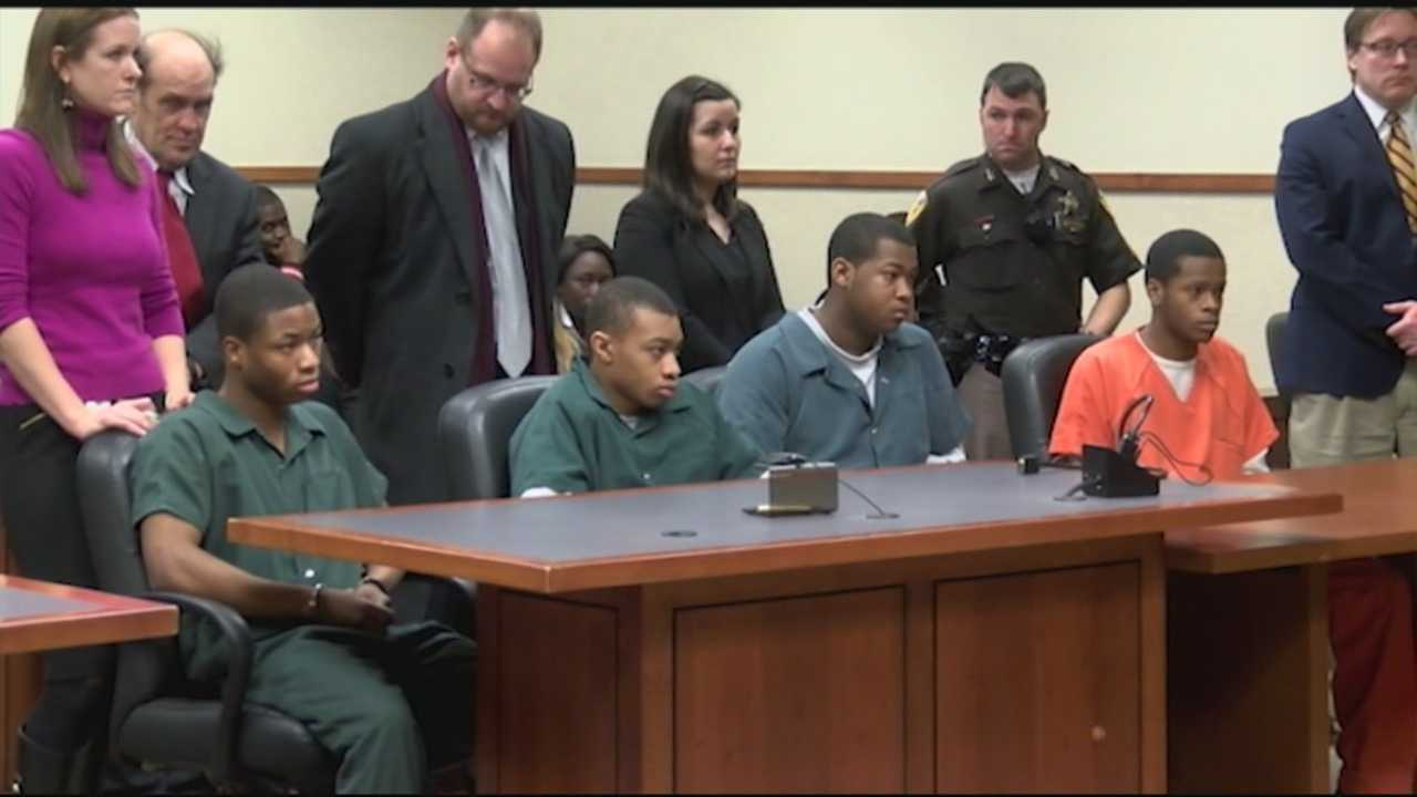Four teens charged with murder of cab driver appeared in court Tuesday