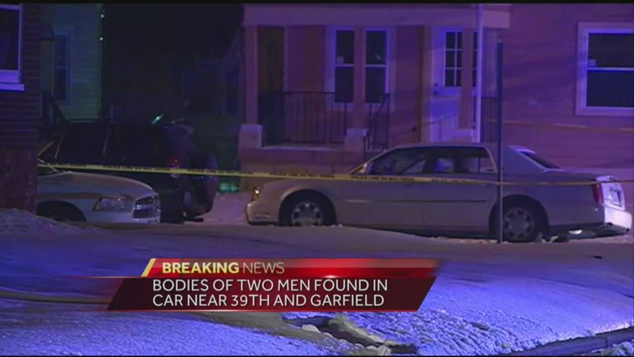 The bodies of two men were found in a car near 39th Street and Garfield.