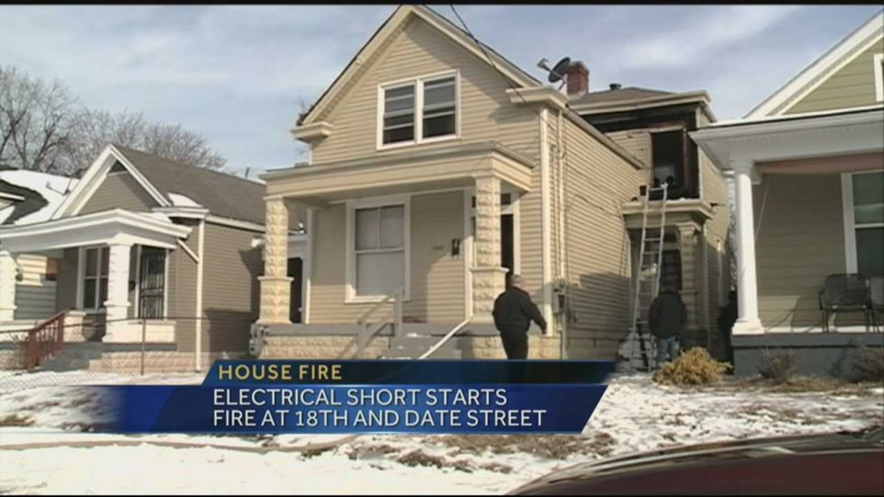 A home at 18th and Date Street caught fire Wednesday morning due to an electrical short.