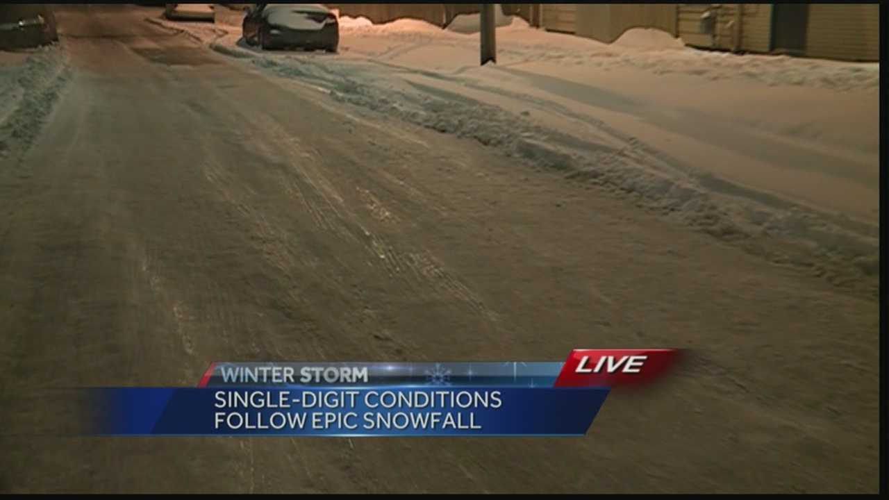Single-digit temperatures have left many roadways covered in ice.