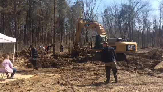 The search continues Wednesday for more remains after construction crews discovered a human skull in the Lake Louisvilla area.
