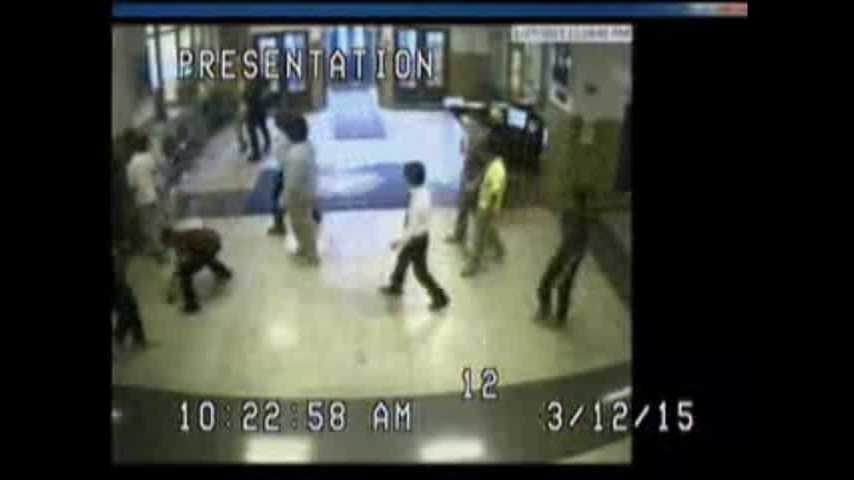 Surveillance video played in court shows School Resource Officer Jonathan Hardin