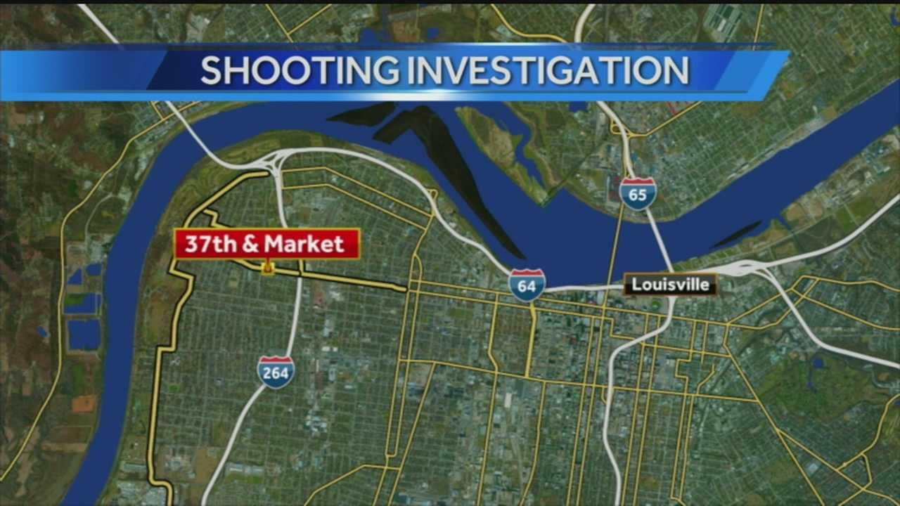 A teenager was shot Monday evening in West Louisville