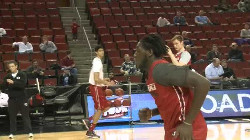 Raw video from the University of Louisville's open practice in Seattle.