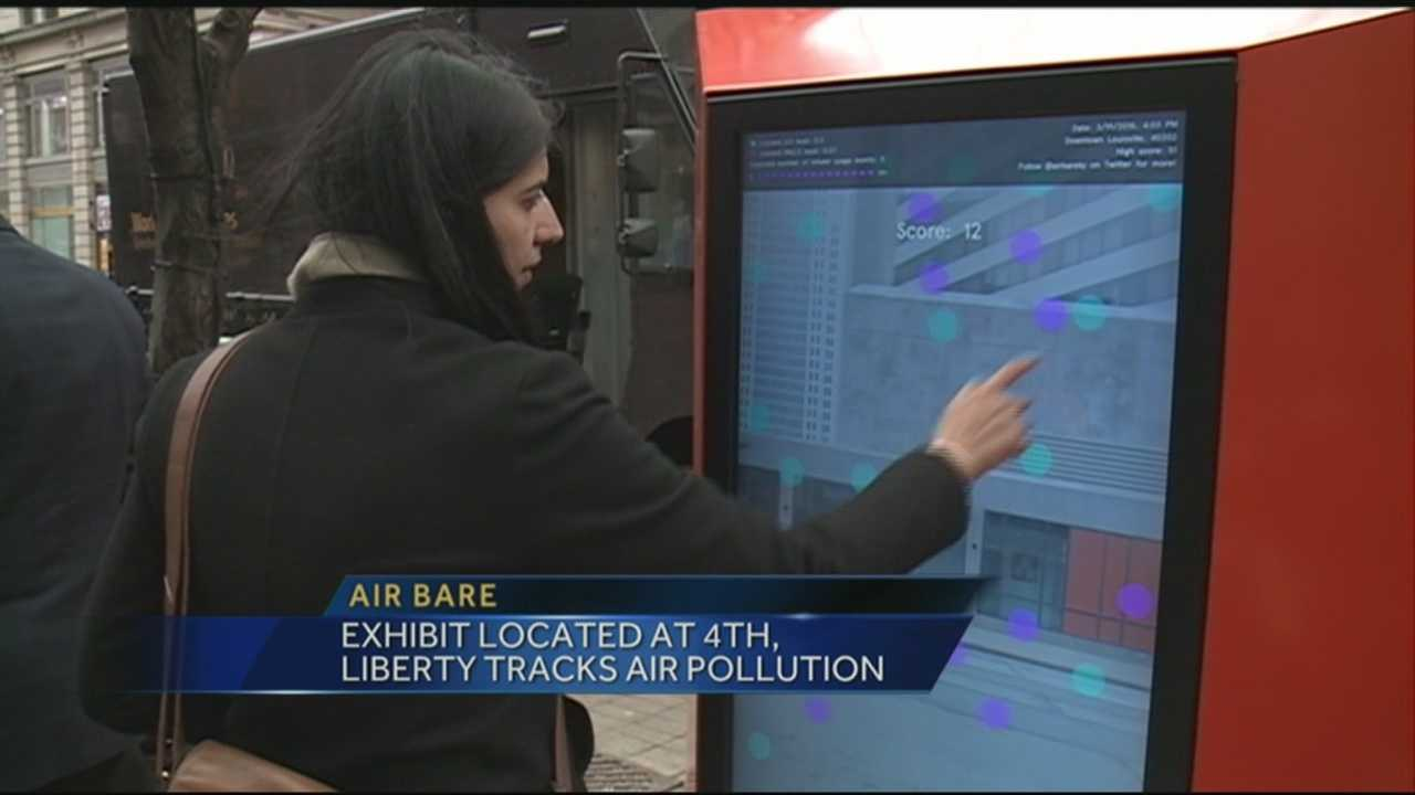 Exhibit located at 4th and Liberty Tracks Air Pollution