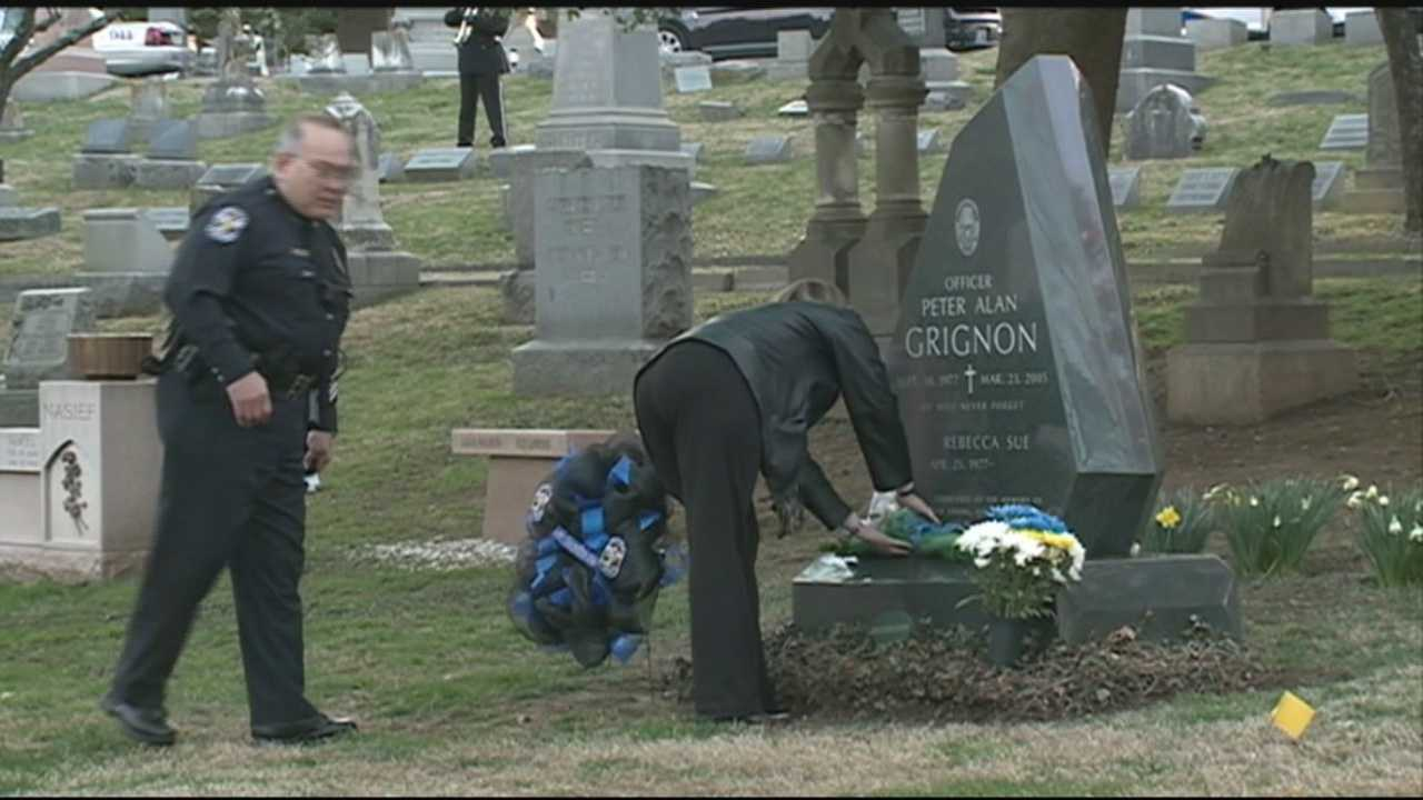 A fallen officer was remembered on Monday, 10 years after he was killed in the line of duty.