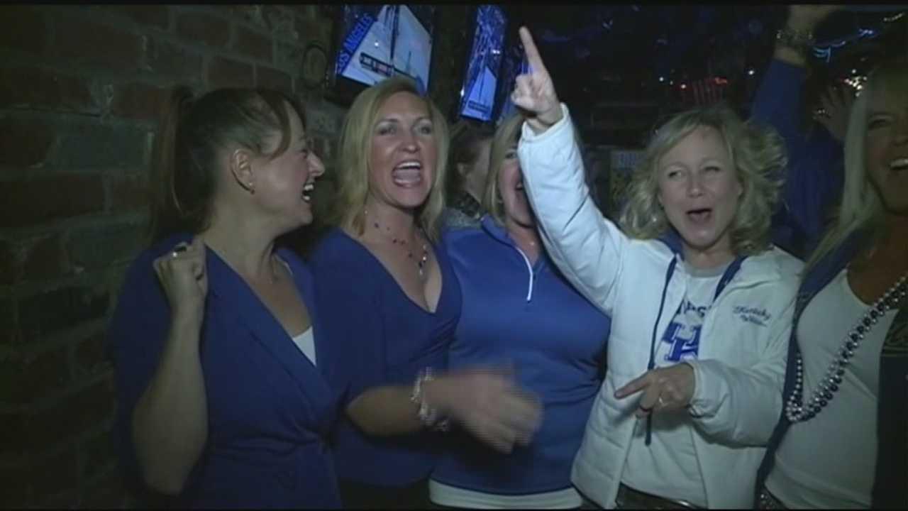 UK fans celebrate win