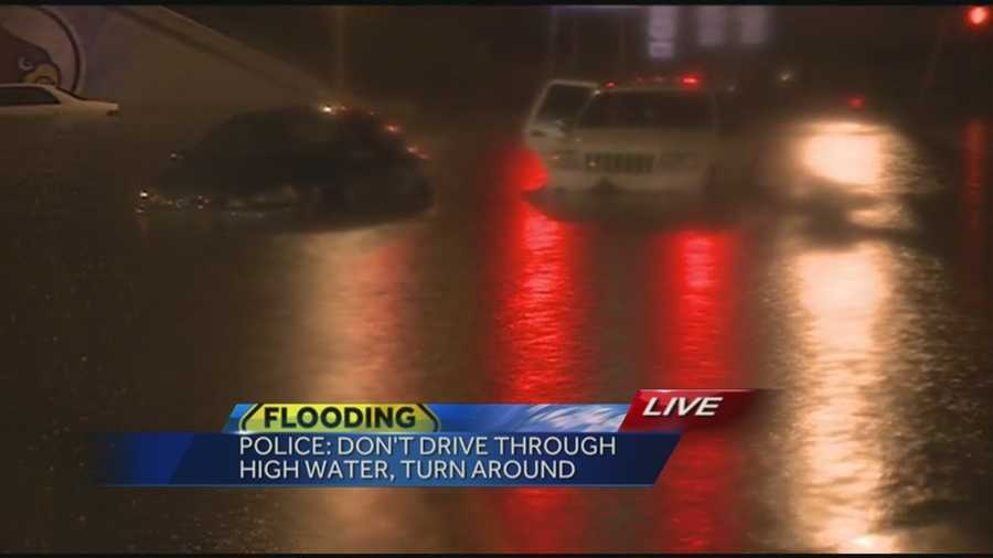 A number of roadways are closed at this time due to high water and flooding