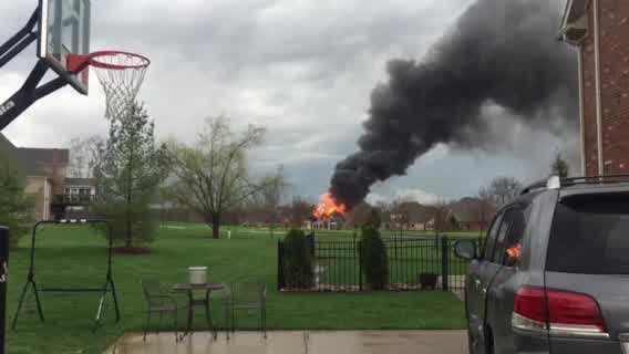 Crews are on the scene of a fire in Lake Forest.