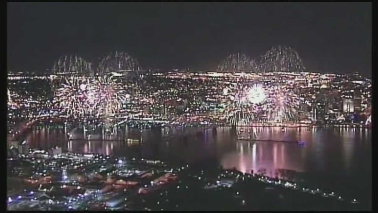 Officials began setting up the Command Center for Thunder Over Louisville on Monday.