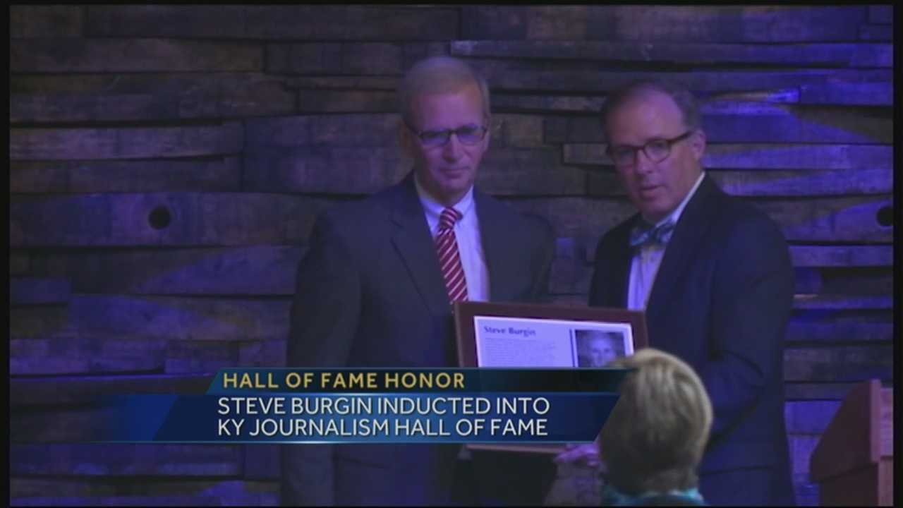 WLKY's Steve Burgin inducted into Kentucky Journalism Hall of Fame