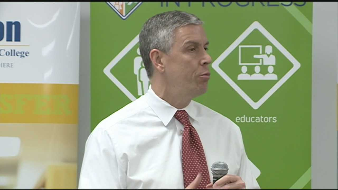 The U.S. Secretary of Education visited Louisville Thursday to check in on local schools.