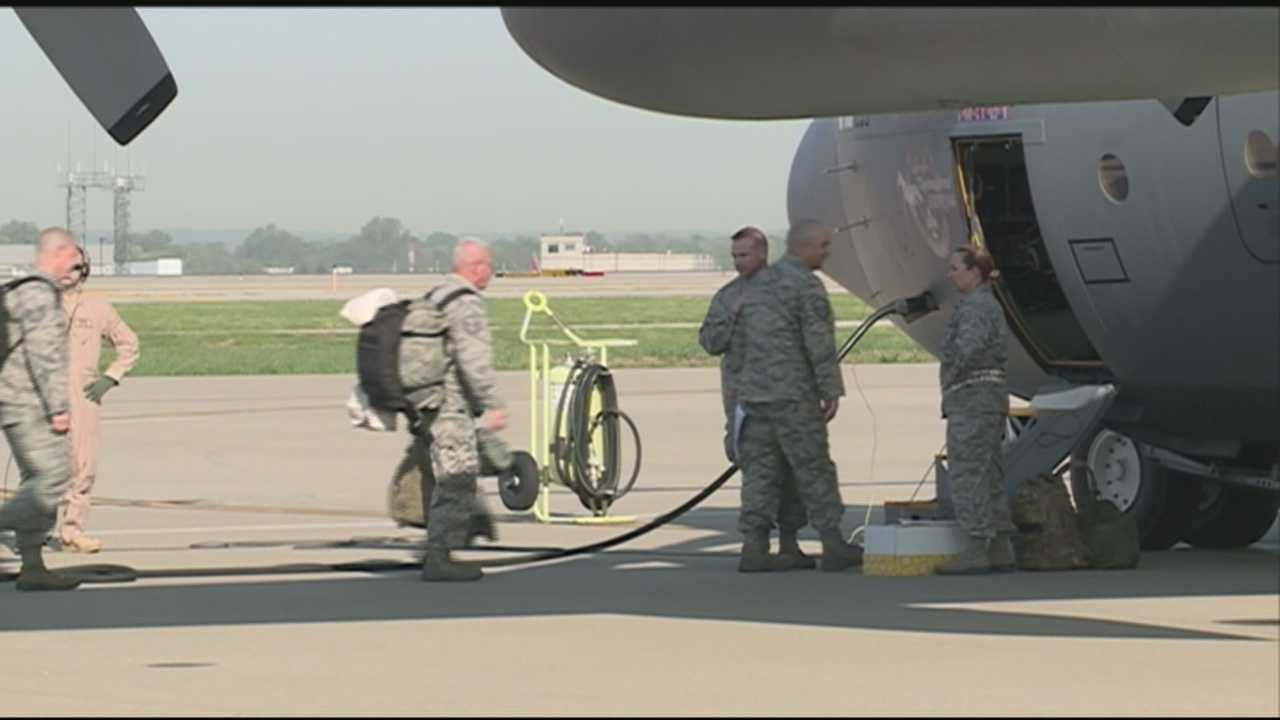 Kentucky Air National guard members deploy to Middle East