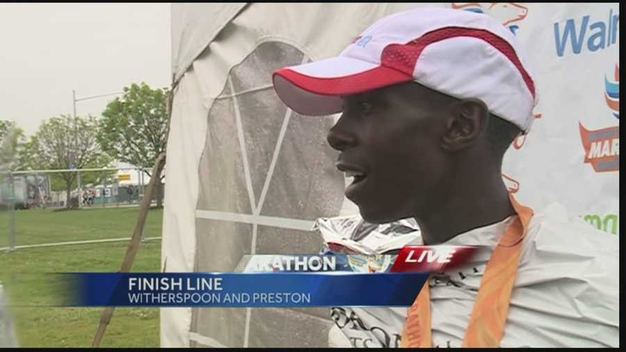 The male mini marathon winner broke the previous record, coming in at 1:01:44