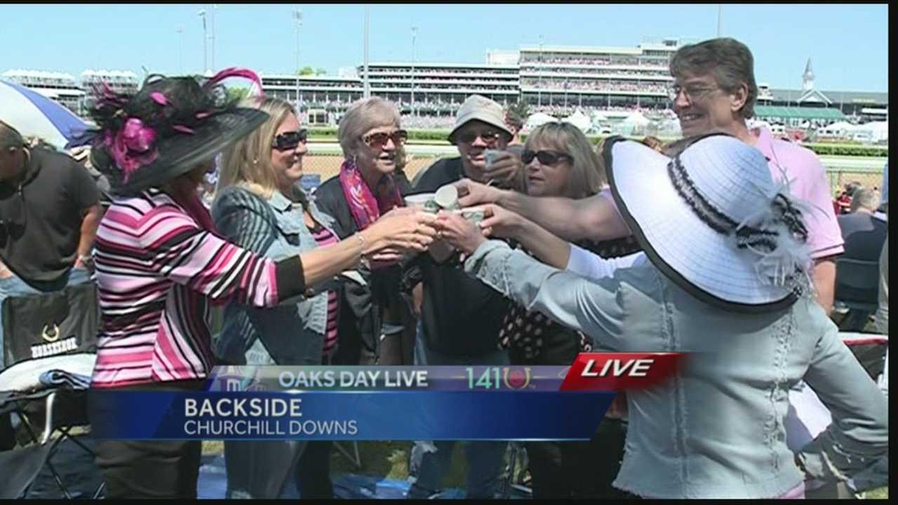 To fans on the Backside of Churchill Downs, getting the perfect spot for Oaks Day makes the early wake up call worth it.