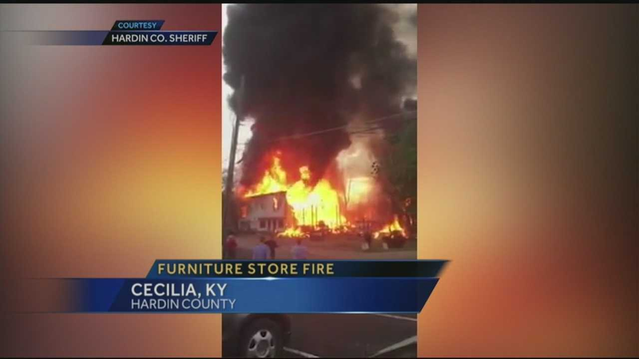 Hardin County Furniture Store Fire
