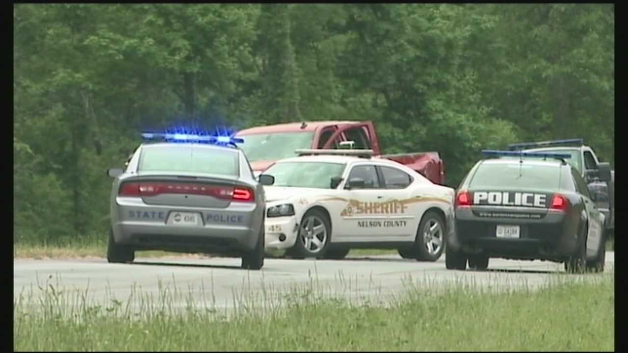 Family members said they tried to get help for a man who was shot by police in Nelson County after a chase Sunday morning.