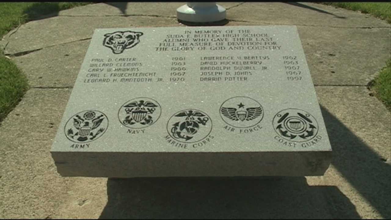 Butler High School dedicated a new memorial to fallen military alumni.