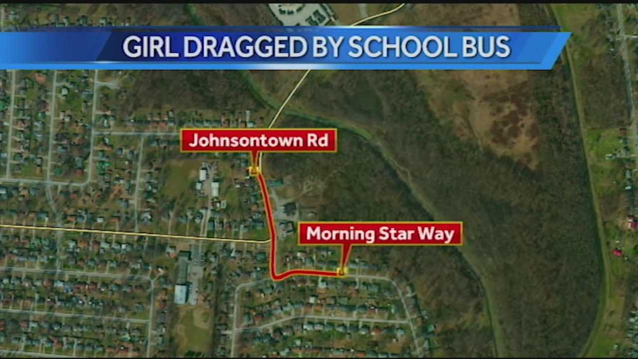 Girl transported to hospital after being dragged by school bus