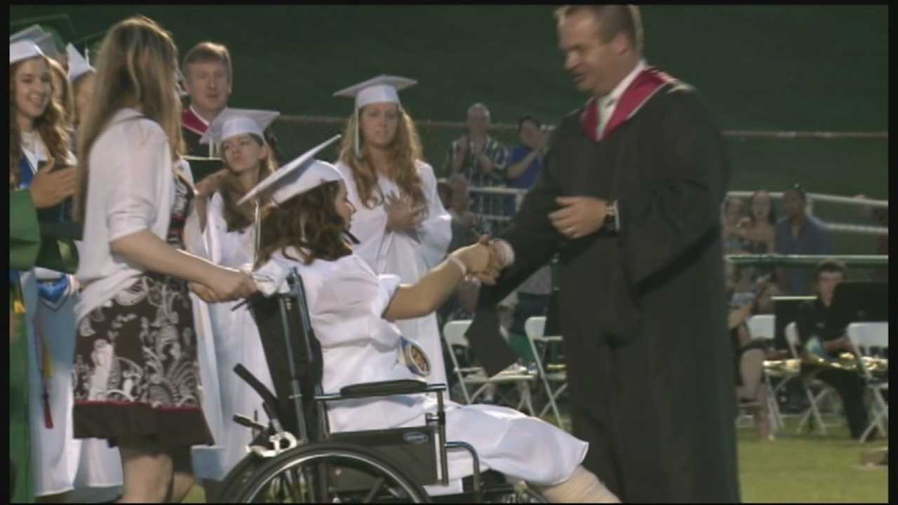 Meade County teenager recovering from severe accident gets graduation surprise