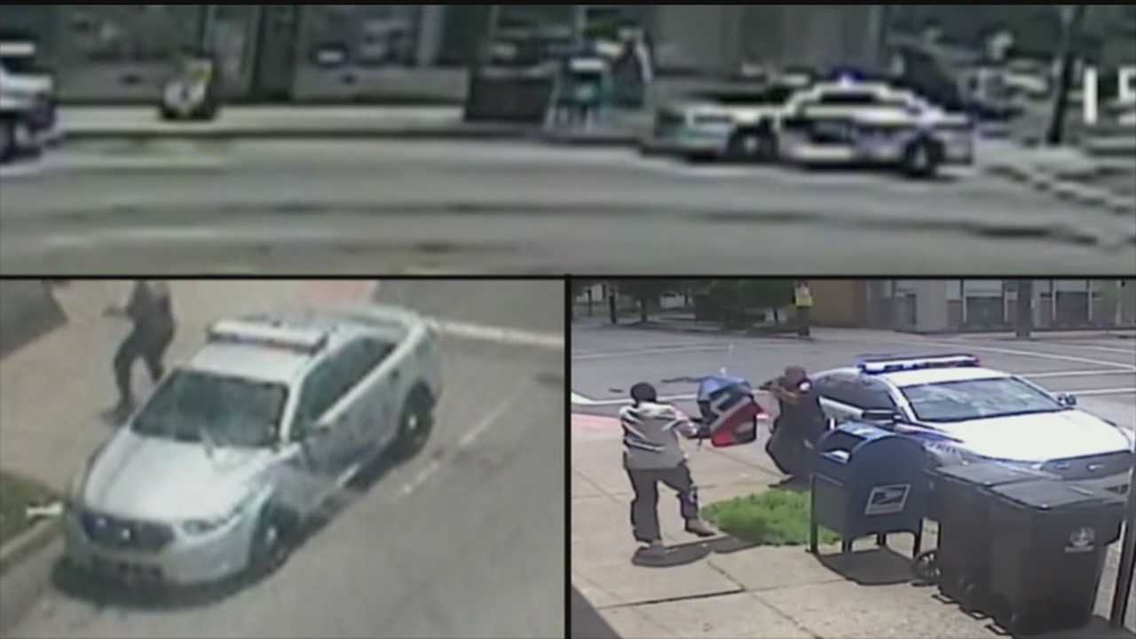 Police release additional surveillance video showing officer-involved shooting