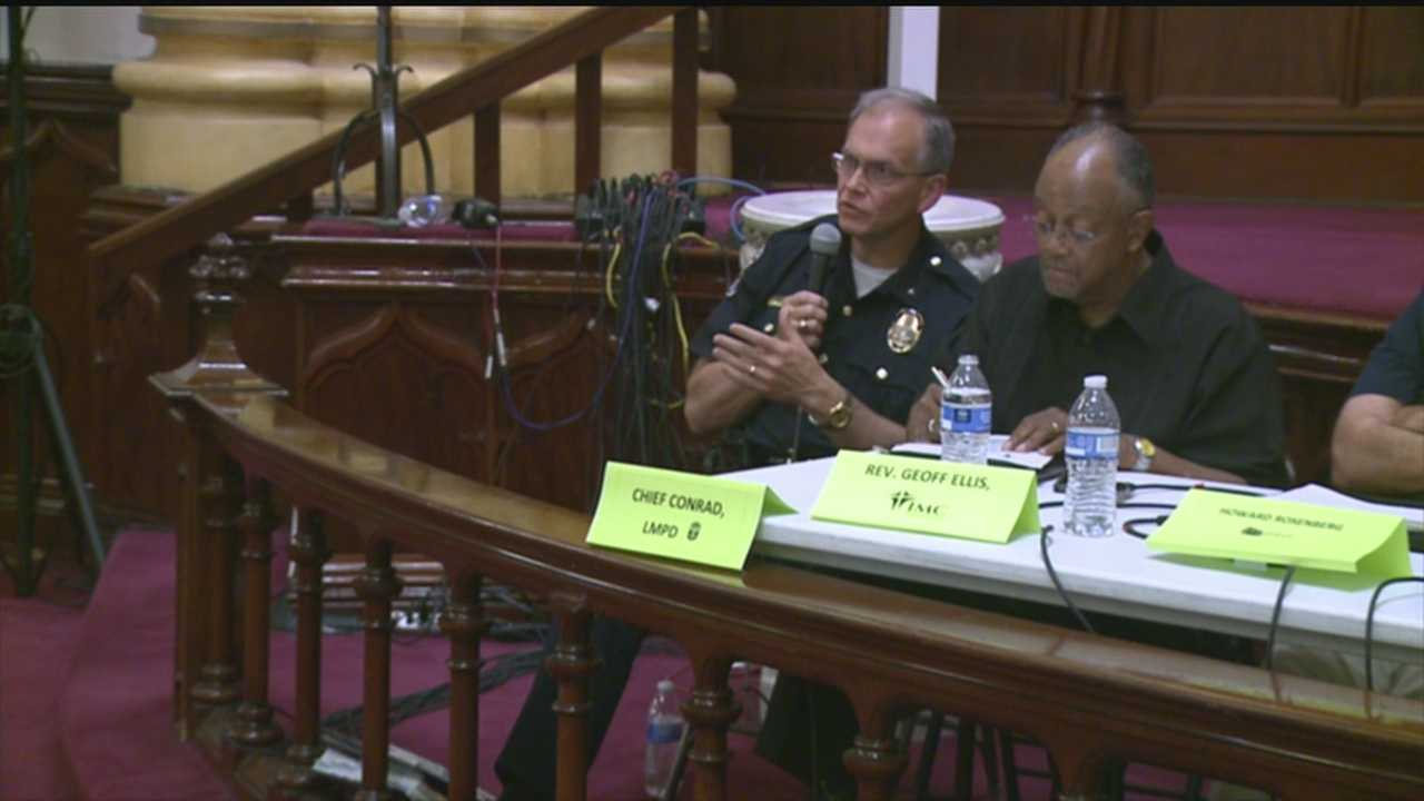 LMPD Chief answered public's concerns at community forum