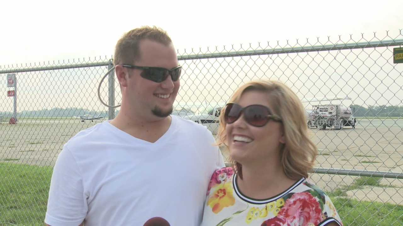 Man proposes to girlfriend while flying over Waterfront Park
