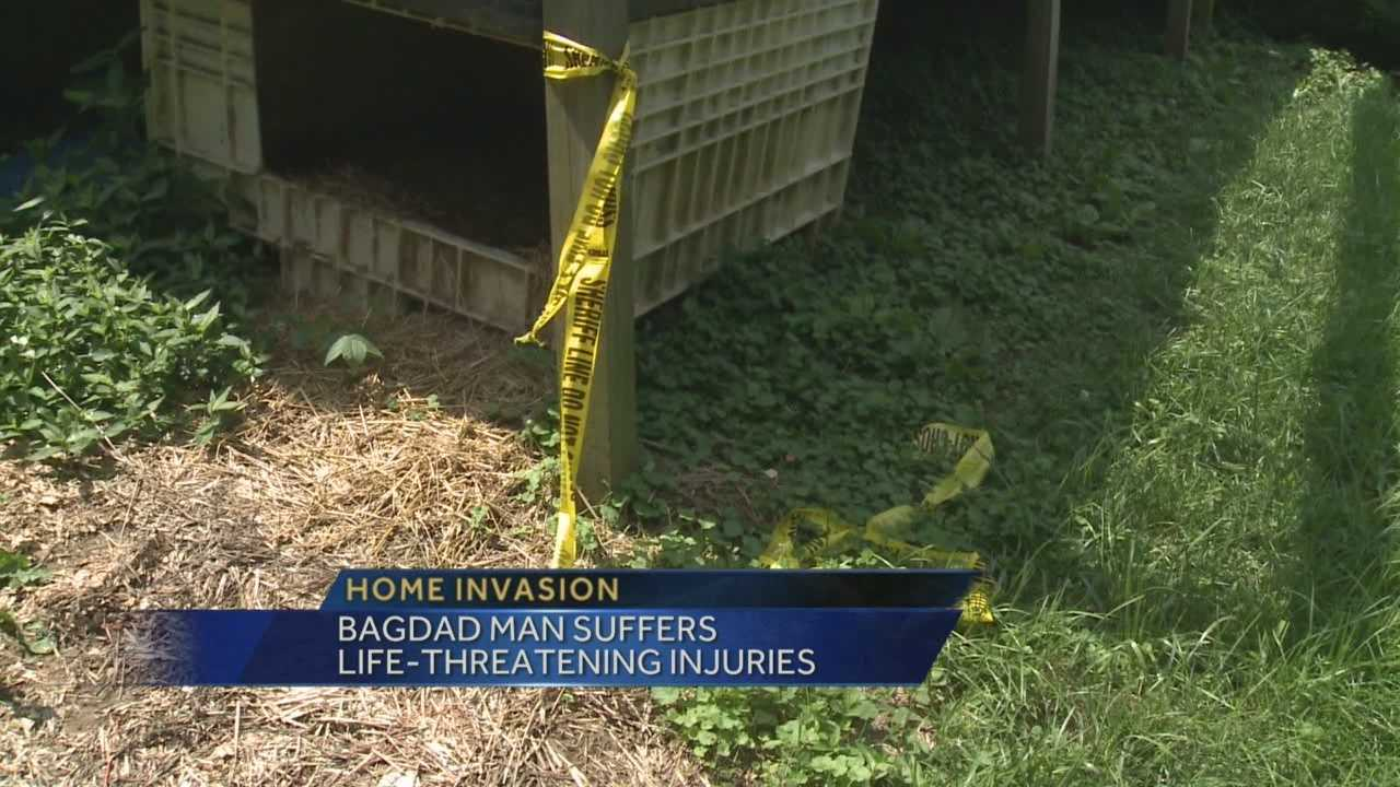 Two men in hospital after violent home invasion