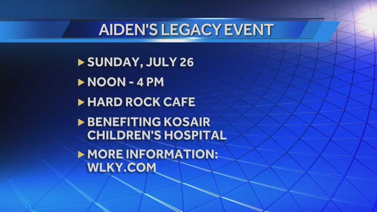 Aiden's Legacy will be raising awareness about pediatric cancer