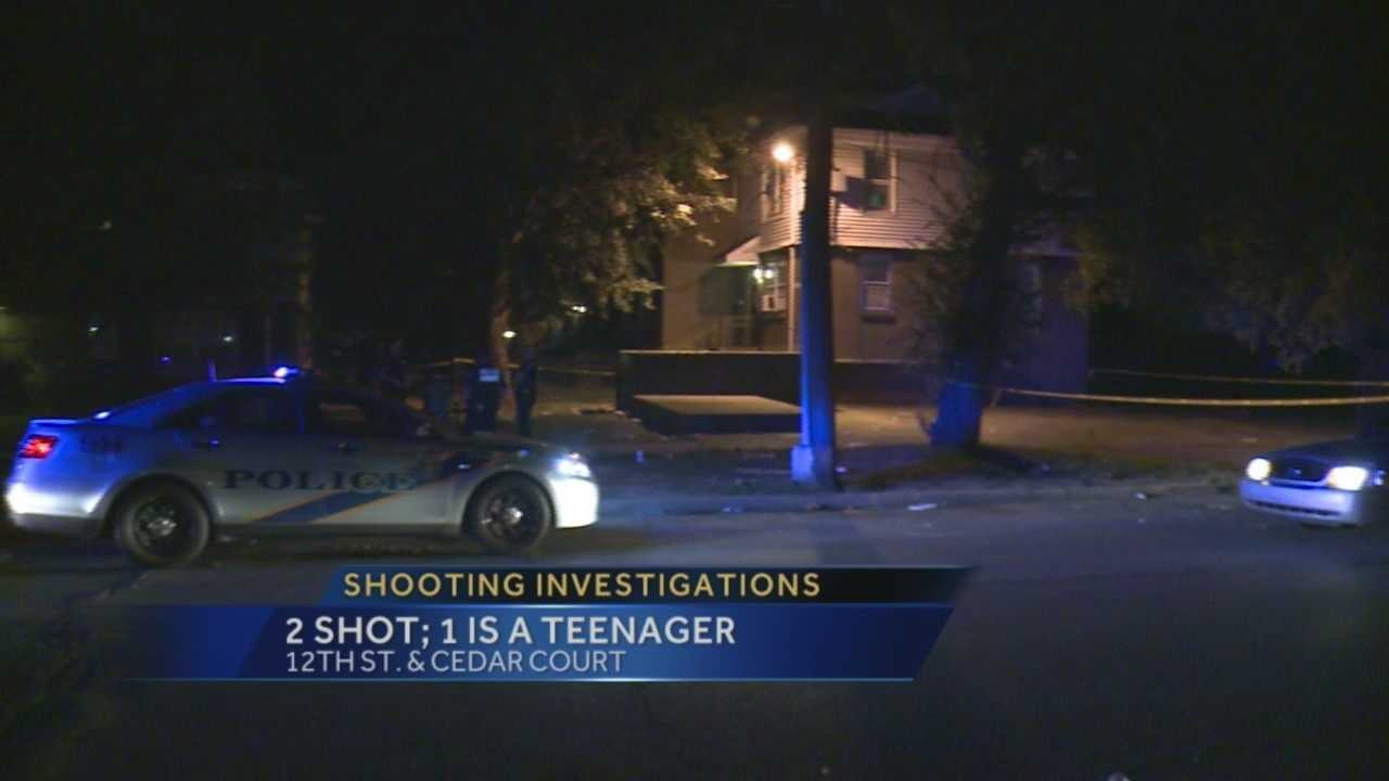 Police investigating two seperate shooting hours a part