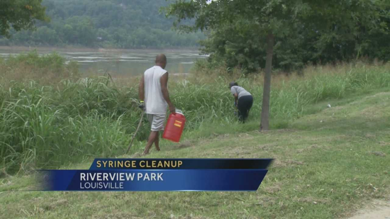 Several organizations collaborate in park cleanup