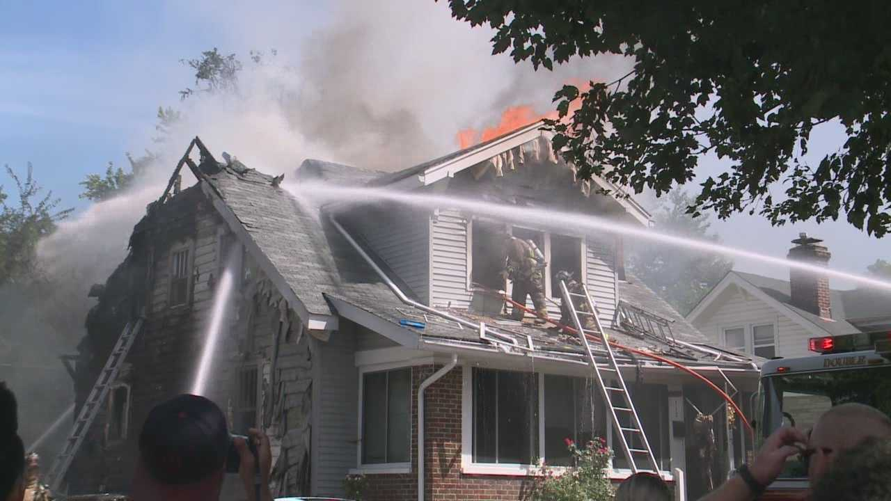 Officials investigate after fire destroys a home in the Shawnee neighborhood
