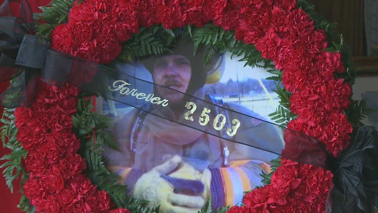 Memorial honors fallen firefighter one year after death