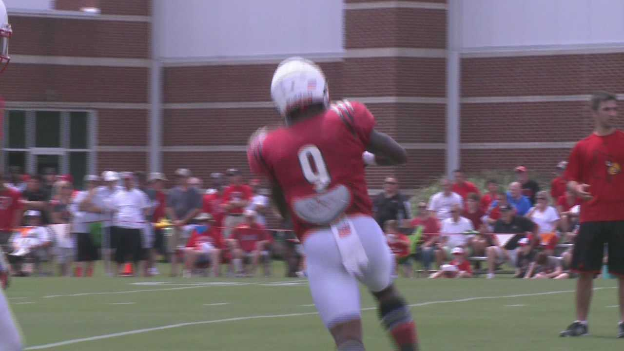 UofL football wide receivers prepare for season