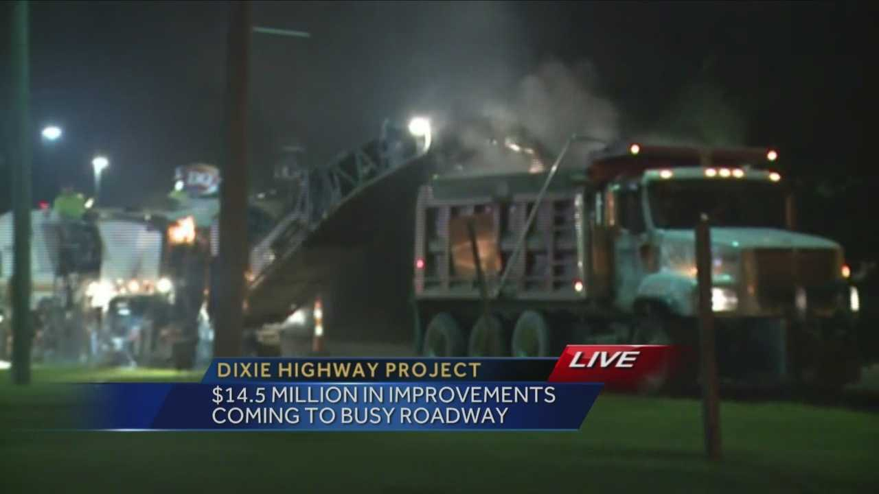 Pavement replacement underway along Dixie Highway in southwest Louisville