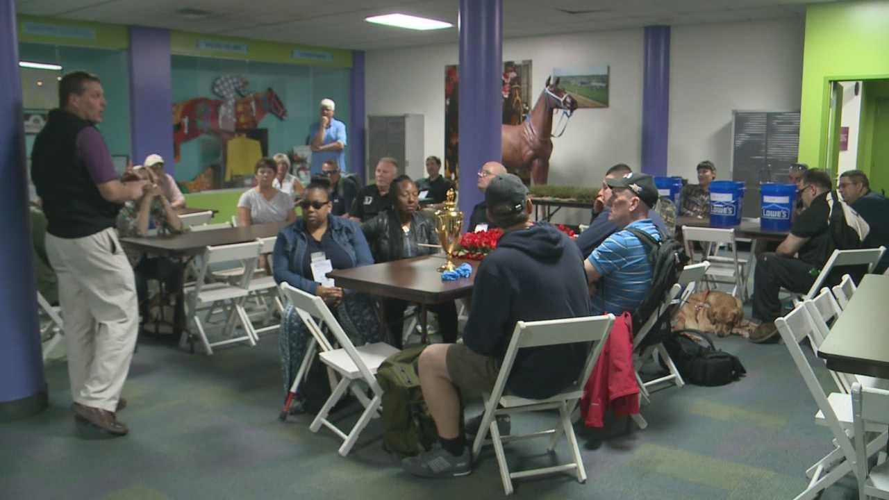 Veterans got a special tour of the Kentucky Derby Museum.