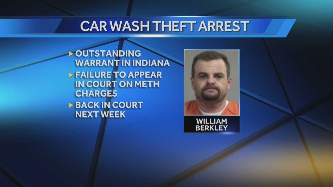 An Indiana man, arrested in Louisville, is now charged with theft, criminal mischief, and tampering with physical evidence.