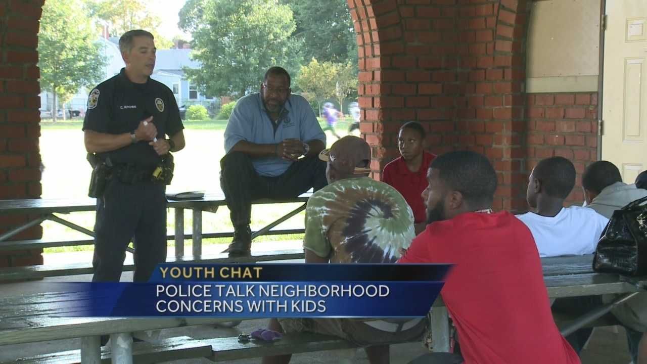 Police are talking to kids about violence in their neighborhoods.