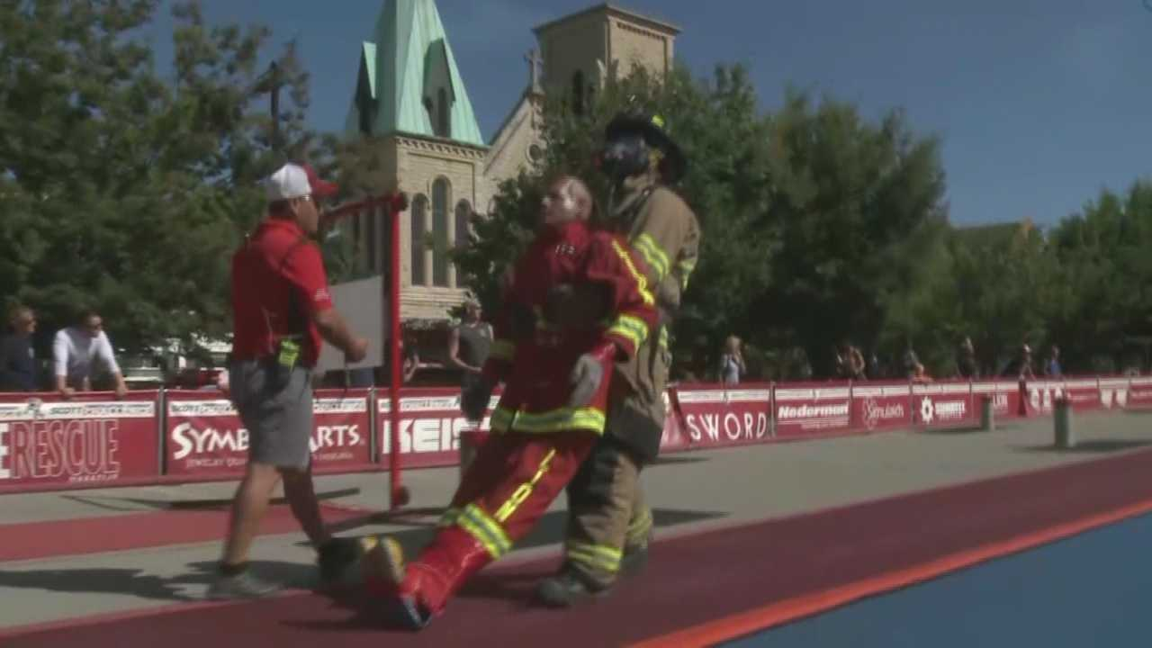 More than 150 firefighters compete in combat challenge