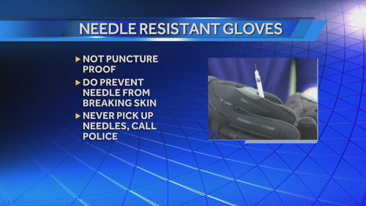 New gear protects St. Matthews officers when dealing with drug users